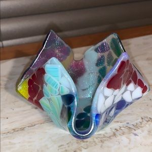 Blown Glass Voltive Holder or Candy Dish Buy Now!!